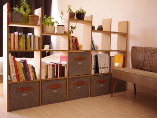 Regalkörbe aus Filz Stich-haltig WohnzimmerAufbewahrung Textil Mehrfarbig