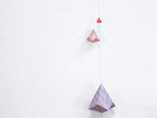 """"""" Objets à rêves"""" en origami Sophie Morille Designer Textile ArtObjets d'art"""