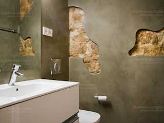 Remodeling works in a gothic quarter apartment Torres Estudio Arquitectura Interior Rustic style bathroom