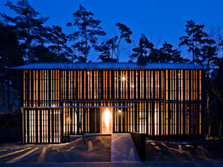 大角雄三設計室 Casas de estilo escandinavo Madera Acabado en madera