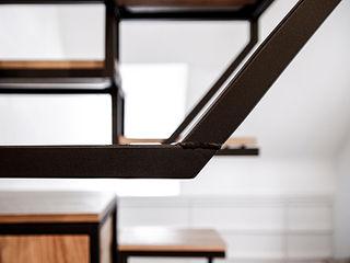 Studio Mieke Meijer Industrial style corridor, hallway and stairs