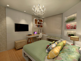 Konverto Interiores + Arquitetura Dormitorios de estilo moderno