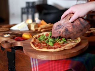 Harch Pizza Board and Quirky Cutter Harch Wood Couture KitchenKitchen utensils