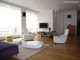 LOFT R - PARIS XI Agence d'architecture Odile Veillon / ARCHI-V.O Living room
