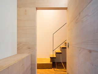 川添純一郎建築設計事務所 Pasillos, vestíbulos y escaleras minimalistas