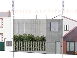 dE LAURENTIIS Architectures, le fil rouge d'un projet ! Modern Duvar & Zemin