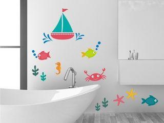 Badespaß www.wandtattoo-home.de BadezimmerDekoration