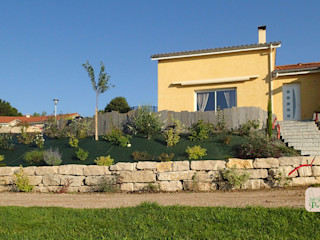Enrochement ART PAYSAGE Jardin moderne