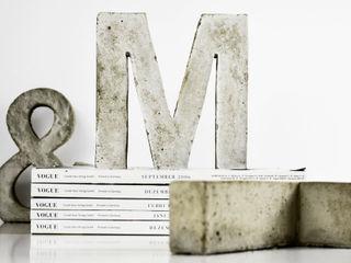 """Betonbuchstabe """"M"""" mx   living Kunst Kunstobjekte"""