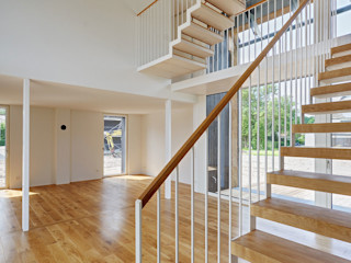 Möhring Architekten Modern corridor, hallway & stairs