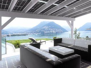 Solar-Glas-Terrassenüberdachung Solarterrassen & Carportwerk GmbH Balkon, Veranda & TerrasseAccessoires und Dekoration