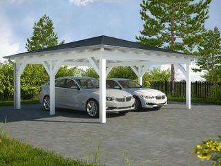 Easy Premium Walmdachcarport Solarterrassen & Carportwerk GmbH Garage/Schuppen