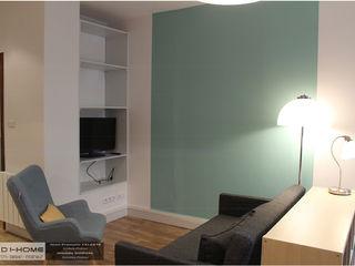Agence ADI-HOME Ruang Keluarga Gaya Eklektik