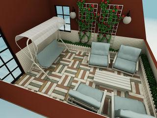 M.A. EVİ Niyazi Özçakar İç Mimarlık Eklektik Balkon, Veranda & Teras