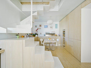 Manuel Ocaña Architecture and Thought Production Office Scandinavian style corridor, hallway& stairs