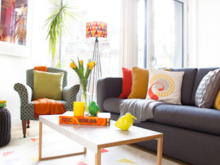 Hampstead Heath Apartment Bhavin Taylor Design Ruang Keluarga Gaya Eklektik