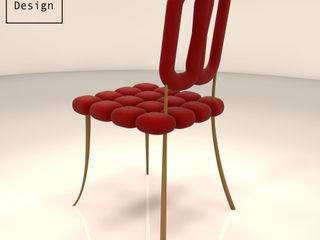 La chaise Islet Print-out / james lenglin design Salle à mangerTabourets & bancs