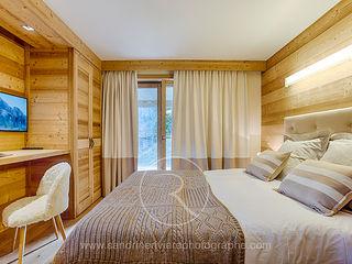 Visite privée d'un chalet alpin Sandrine RIVIERE Photographie Chambre rurale