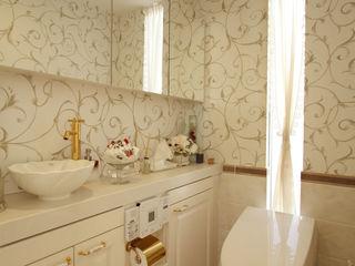 菅原浩太建築設計事務所 Mediterranean style bathroom