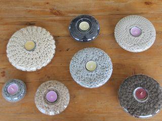 Szklane świeczniki ze sznurkiem. trzy manufaktury SalonAkcesoria i dekoracje