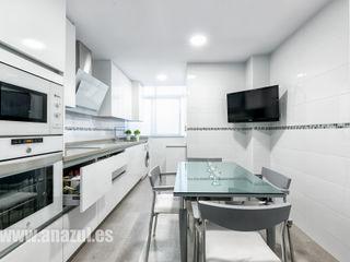 Cocina en blanco Espacios y Luz Fotografía Cocinas de estilo minimalista