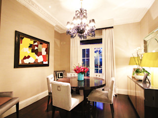 London Townhouse Perfect Integration Modern Dining Room