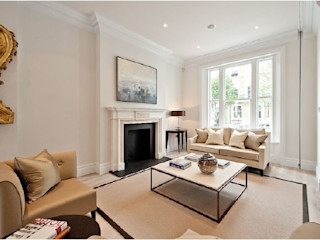 Chelsea Family House Black and Milk | Interior Design | London Living room