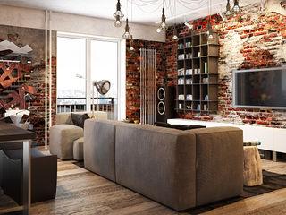 Павел Белый и дизайнеры Industrial style living room