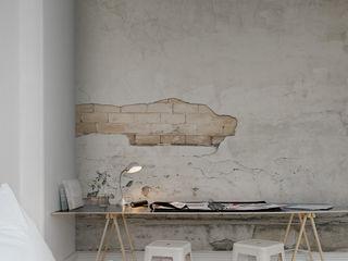 Cracks Wallpaper by Mister Smith Interiors homify พื้นและกำแพงวอลเปเปอร์