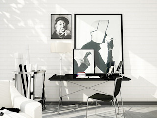 Interiors | Black and White DesigniTures Phòng khách