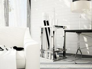 Interiors | Black and White DesigniTures Phòng khách phong cách tối giản
