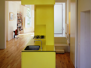 The Yellow Submarine Sophie Nguyen Architects Ltd Modern Kitchen