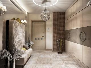 Ольга Райская Modern corridor, hallway & stairs