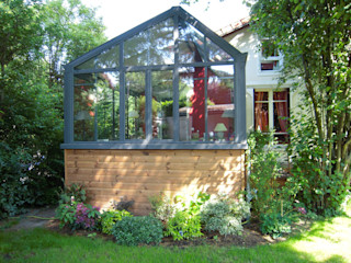 agrandissement maison Gagny garnault Balcon, Veranda & Terrasse modernes