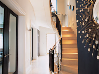 Phillimore Square KSR Architects Modern Corridor, Hallway and Staircase