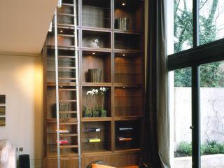 Thurlow Road 1 KSR Architects Living roomShelves