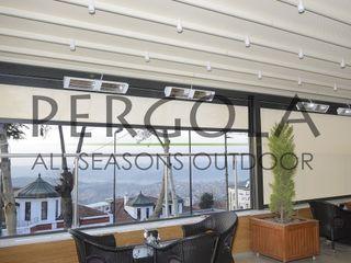 Motorized Pergola & i-Zipscreen Outdoor Blind PERGOLA A.Ş. Commercial Spaces