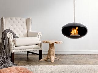 Cocoon Aeris Fireplace Wharfside Furniture غرفة المعيشة