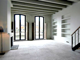 Archivice Architektenburo Industrial style living room