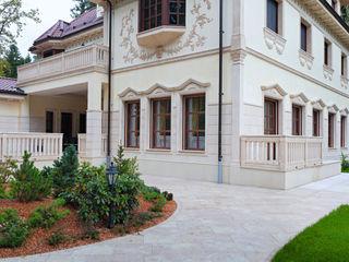 Tende di Impronta Impronta Balcone, Veranda & Terrazza in stile moderno