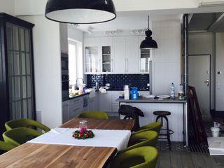 livinghome wnętrza Katarzyna Sybilska Столовая комната в стиле лофт