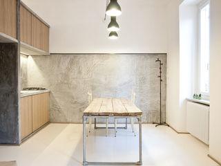 3 VAULTS R3ARCHITETTI Sala da pranzo minimalista