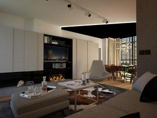 Salon para single Disak Studio Salones de estilo moderno