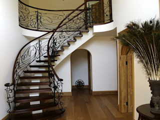 Potters Bar domestic staircase Stair Factory Ingresso, Corridoio & Scale in stile scandinavo