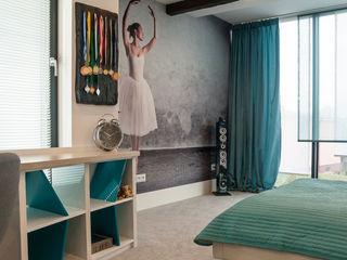 Wnętrze dziecięcych pokoi w Nowej Wsi Lęborksiej Ewa Weber - Pracownia Projektowa Skandynawski pokój dziecięcy
