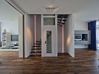 Florian Eckardt - architectinamsterdam Tropical corridor, hallway & stairs