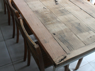 Deben Table in Reclaimed French Oak Salvation Furniture KitchenTables & chairs