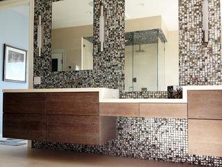 Black Lip Mother of Pearl in Bathroom Renovation in Kentfield, California, USA ShellShock Designs Modern bathroom