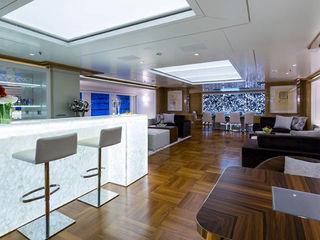 Black Agate used on The Galaxy Yacht ShellShock Designs Modern yachts & jets