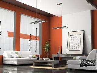 Ambientes actuales de La Ventana de Colores LA VENTANA DE COLORES Salones de estilo moderno